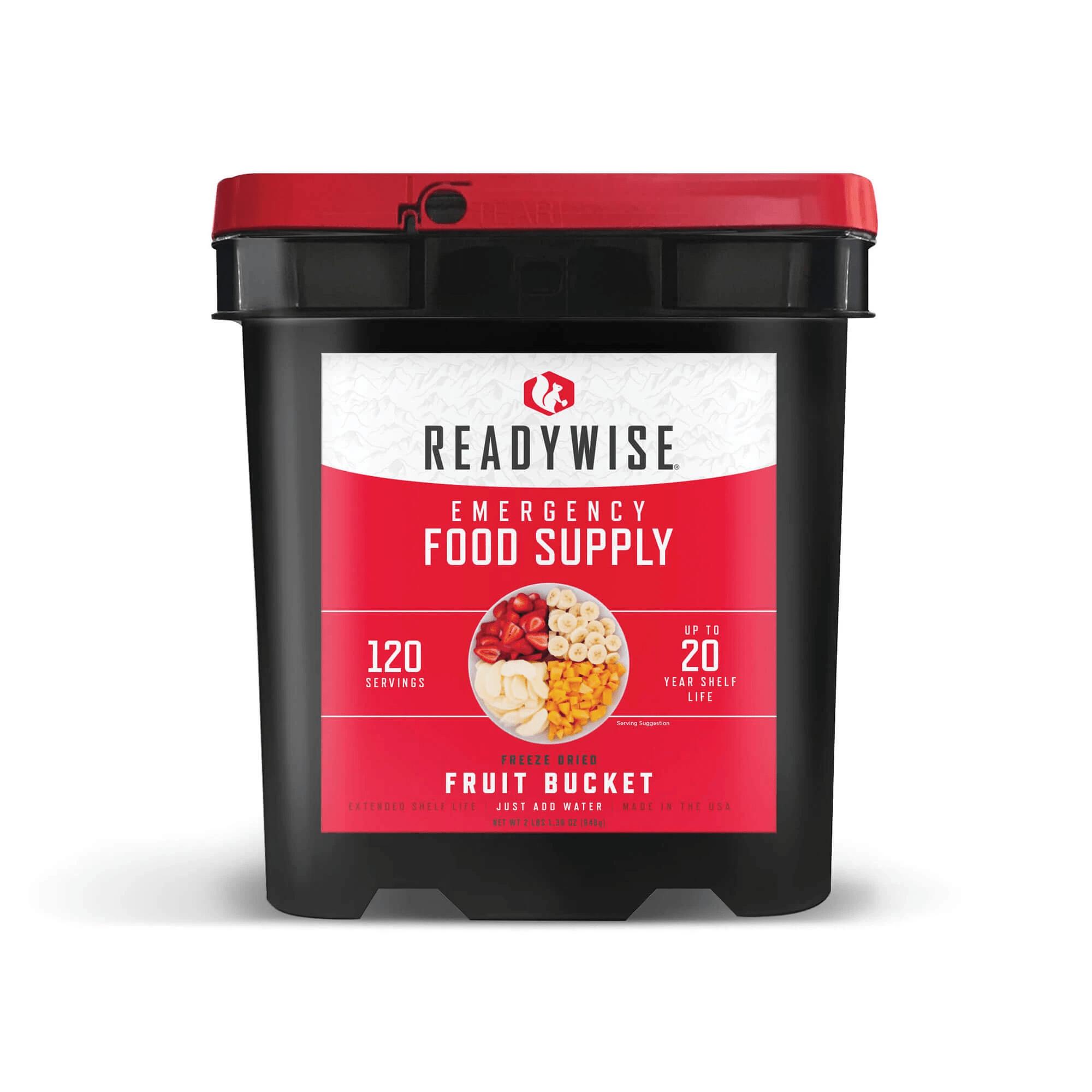 120 Serving Freeze Dried Fruit Bucket
