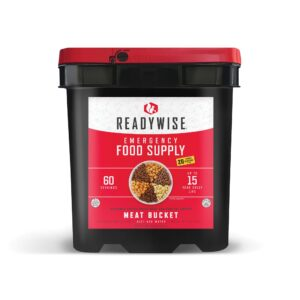 60 Serving Freeze Dried Meat Bucket + 20 Servings Of Rice