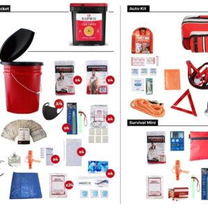 Family Preparedness Package w/ Food Storage