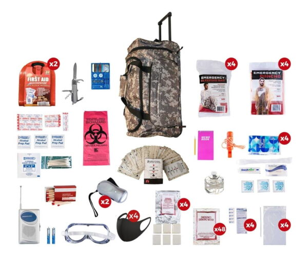 4 Person Deluxe Survival Kit (72+ Hours)