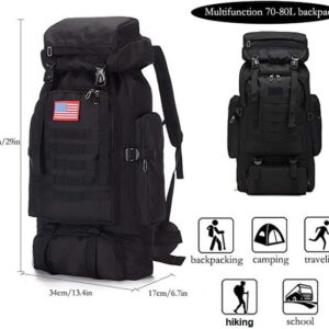 BackPack, 70 Liter, Black