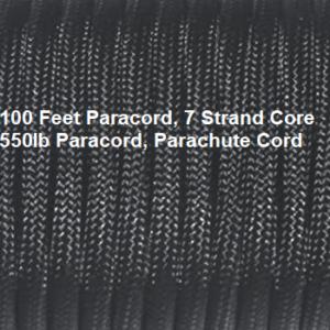 100 Feet Parachute Cord, 550 Lb Rating